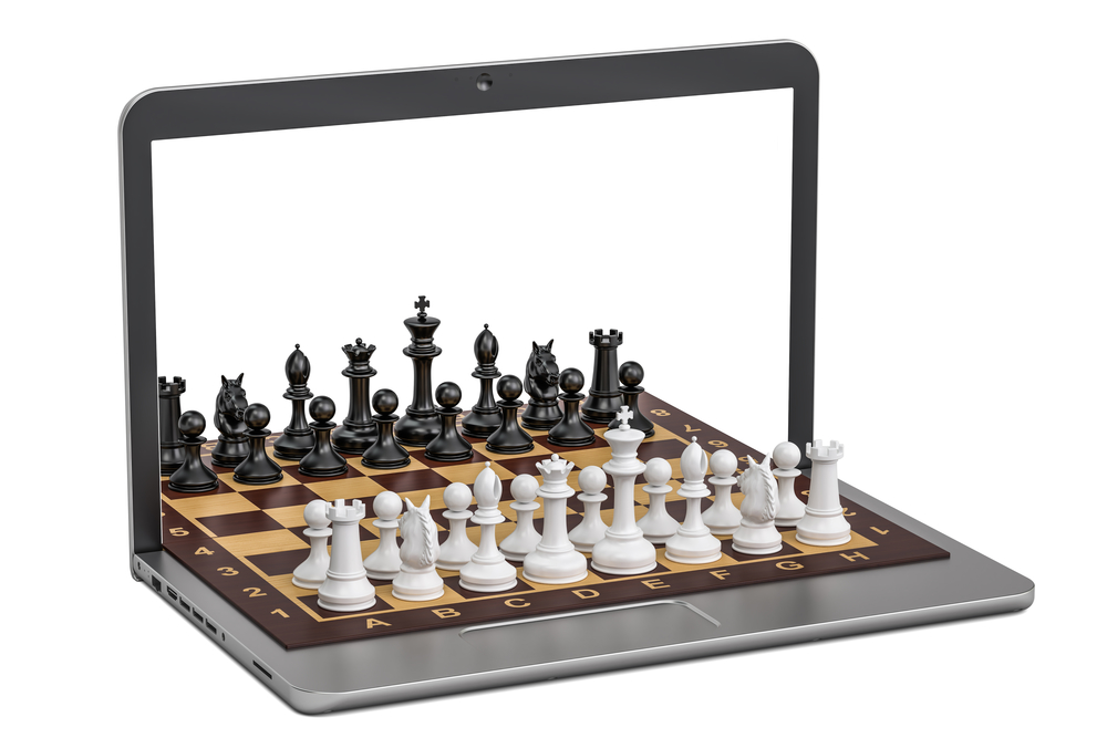 Play chess online concept 3d rendering for 3d rendering online